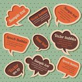 Set of retro speech bubbles