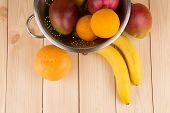 Citrus fruits and bananas