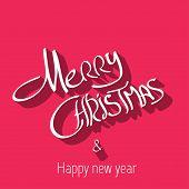 Merry Christmas typography, handwriting