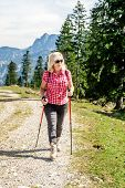 Hiking Woman With Sunglasses