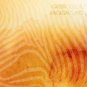 vector abstract orange watercolor background with animal zebra p