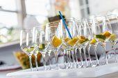 Empty Cocktail Glasses