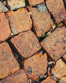 Red Brick Road Macro Fragment, Photo Background