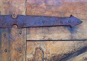 Rustic Antique Iron Door Arrow Door Hinge