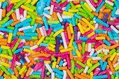 Colored sprinkles.