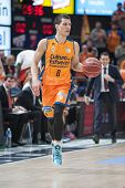 VALENCIA, SPAIN - DECEMBER 7:  Nedovic during Endesa Spanish League game between Valencia Basket Club and Laboral Kutxa Baskonia at Fonteta Stadium on December 7, 2014 in Valencia, Spain