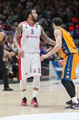 VALENCIA, SPAIN - DECEMBER 5: Williams during Euroleague match between Valencia Basket Club and Crvena Zvezda Telekom Belgrade at Fonteta Stadium on Dicember 5, 2014 in Valencia, Spain