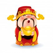 picture of godly  - Chinese God of Wealth - JPG