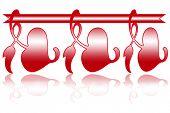 Design Valentine Day frames (red hearts on white background)