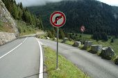 No Turn Signs On Mountain Road