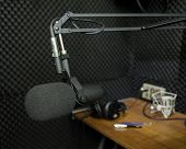 Dynamic Microphone In Recording Studio