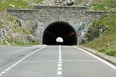 Tunnel On Sustenpass In Alps In Switzerland