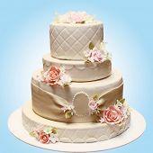 Wedding big cake on the table