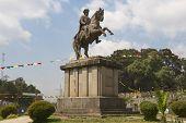Equestrian statue of Emperor Menelik II Addis Ababa, Ethiopia.