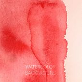 vector abstract red watercolor background for your design