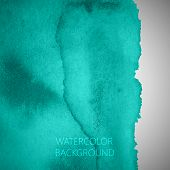 vector abstract turquoise watercolor background for your design