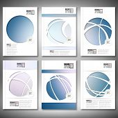 Abstract defocused blue background. Brochure, flyer or report for business, template vector