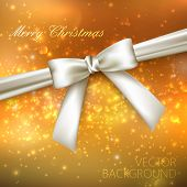 Merry Christmas. shiny golden holiday background with lights, sp