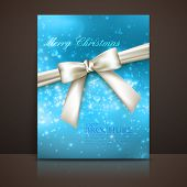 Merry Christmas. shiny blue holiday background with lights, spar