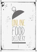 Courier online food delivery design