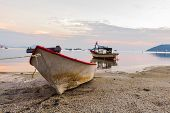 Stranded rowboat