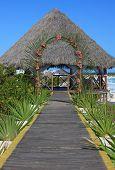 Wedding gazebo on the Caribbean coast