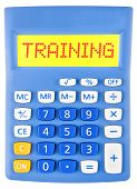 Calculator With Training On Display Isolated