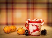 insulated wool cloth mug