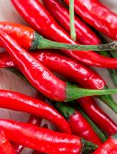 Spicy Chillies Means Red Pepper And Capsaicin