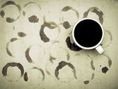 coffee cup and coffee rings