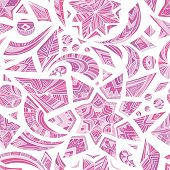 Pink aztec winter pattern