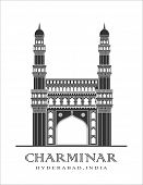 picture of charminar  - An illustration of Charminar monument in Hyderabad - JPG
