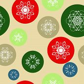 Color Snow Background