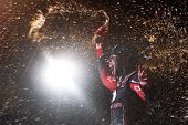 Rossburg, OH - Jul 23, 2014:  Darrell Wallace Jr (54) wins the