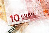Euro Money Grunge Background