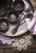 The old kitchen utensils