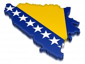 Bosnia and Herzegovina (clipping path included)