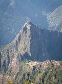 Machu Picchu From Behind Portrait