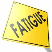 stock photo of fatigue  - Road sign with fatigue image with hi - JPG