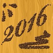 Coffee New Year 2016 Generated Texture Background
