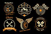Set of racing badge