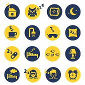 Sleep and insomnia icons