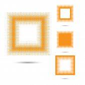 Halftone Design Elements, Square Shape.