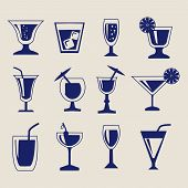 Set Of Drinks Icon Set