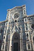 The Facade Of The Duomo In Florence