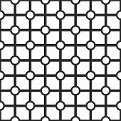 Tile vector black and white geometric pattern background