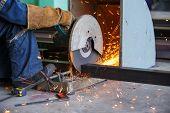 Cutting Metal By Cutting Wheel