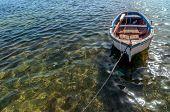 Small Boat In Mediterranean Sea, Sicily