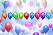 German Opening Balloon Colorful Balloons
