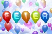 German Celebration Balloon Colorful Balloons
